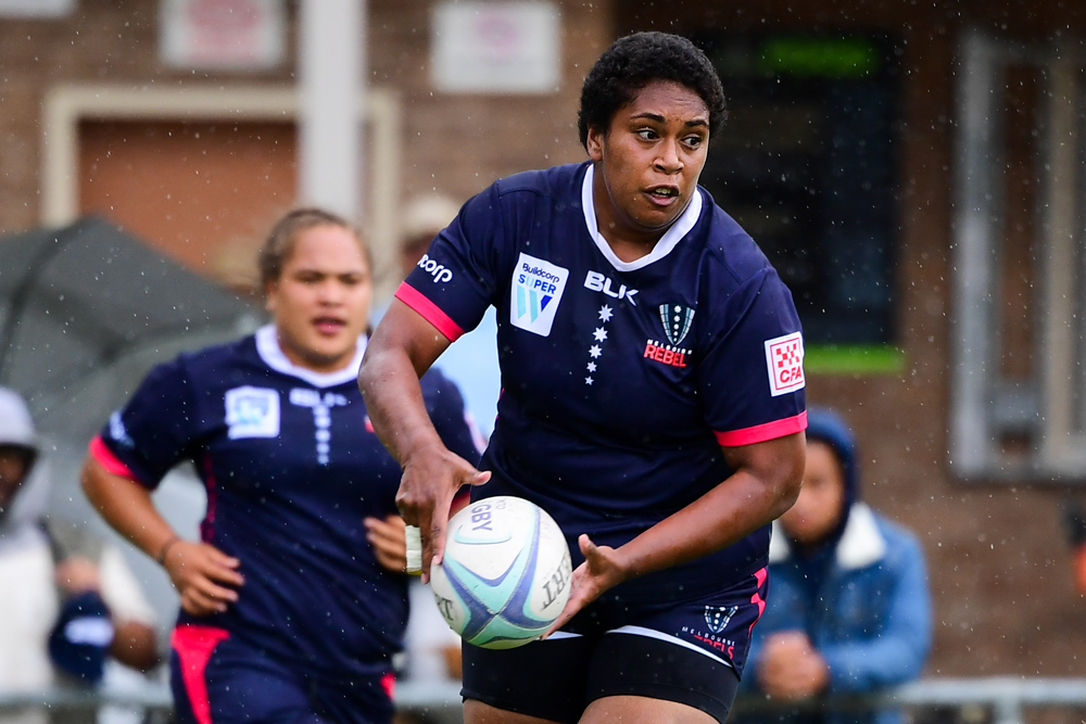 Casey prop Titilia Yabaki in action for the Melbourne Rebels earlier this year. Photo: Stuart Walmsley/Rugby AU Media